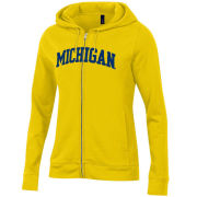 Gear University of Michigan Women's Yellow Full Zip Hooded Sweatshirt
