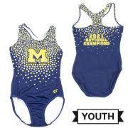 GK University of Michigan Gymnastics Youth Navy 2021 National Champions Sublimated Leotard