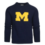 Hillflint University of Michigan Navy Block M Heritage Sweater