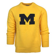 Hillflint University of Michigan Yellow Block M Heritage Sweater