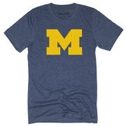 Homefield Apparel University of Michigan Heather Navy Block ''M'' Logo Tee