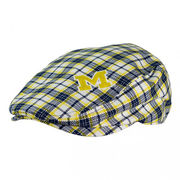 Honour Society University of Michigan Plaid Driving Cap