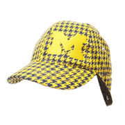 Honour Society University of Michigan Houndstooth Winter Ball Trapper Hat