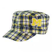 Honour Society University of Michigan White Tartan Cabbie Hat