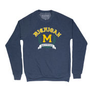 Homefield Apparel University of Michigan Navy Vintage Crewneck Sweatshirt
