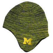 Honour Society University of Michigan Knit Trapper Beanie
