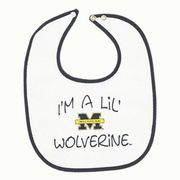 Third St. University of Michigan I'm a lil' Wolverine Baby Bib