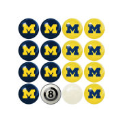 Imperial University of Michigan Home/Away Billiard Ball Set