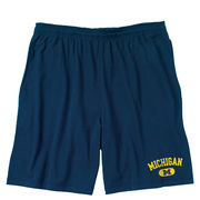 J2 Sport University of Michigan Navy Cotton Workout Short