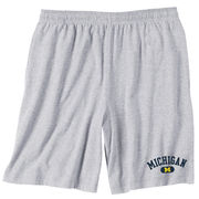 J2 Sport University of Michigan Oxford Gray Workout Short