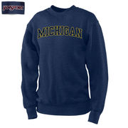 JanSport University of Michigan Heather Blue Eclipse Crewneck Sweatshirt