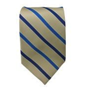 Jardine University of Michigan Navy, Yellow White and Blue Striped Tie