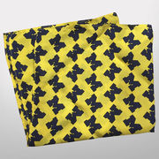 Jardine University of Michigan Yellow Scattered Block M Pocket Square