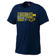 JanSport University of Michigan Hockey Big Ten Tourney Champions Navy Tee