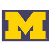 Jenkins University of Michigan Coir Block ''M'' Logo Door Mat