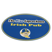 JMB Signs The Blue Leprechaun Irish Pub Ann Arbor Oval Sign