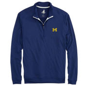 Johnnie-O University of Michigan Abyss Heather Navy Flex Prep-Formance 1/4 Zip Pullover
