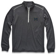 Johnnie-O University of Michigan Pavement Gray ''Lammie'' 1/4-Zip Prep-Formance Pullover