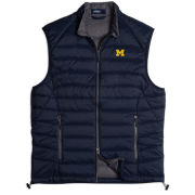 Johnnie-O University of Michigan Navy Straits Quilted 2-Way Zip Front Vest