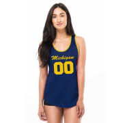 Kadyluxe University of Michigan Women's Mesh Gameday Jersey Tank Top