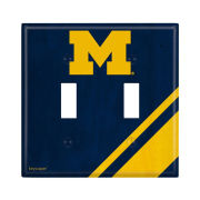 Keyscaper University of Michigan Double Toggle Light Switch Plate Cover