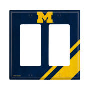 Keyscaper University of Michigan Double Rocker Light Switch Plate Cover