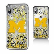 Keyscaper University of Michigan Apple iPhone X Glitter Series Case