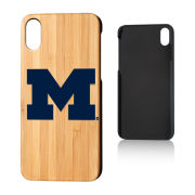 Keyscaper University of Michigan Apple iPhone X and iPhone XS Bamboo Wood Series Case