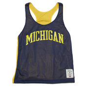 The League University of Michigan Ladies Reversible Mesh Pinny Jersey