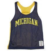 The League University of Michigan Ladies Reversible Mesh Pinny Jersey