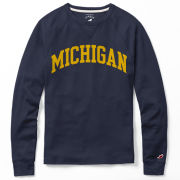 League Collegiate Outfitters University of Michigan Navy Long Sleeve Waffle Tee