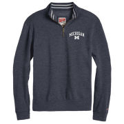 League Collegiate Outfitters University of Michigan Heather Navy Triblend Collegiate 1/4 Zip Pullover Sweatshirt