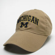 Legacy University of Michigan Khaki Relaxed Twill Slouch Hat