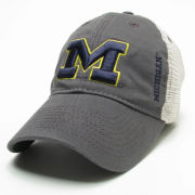 Legacy University of Michigan Dark Gray Meshback Snapback Hat