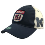 Legacy University of Michigan Navy USA Meshback Snapback Trucker Hat
