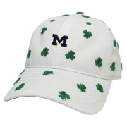 Legacy University of Michigan White Shamrock Relaxed Twill Slouch Hat