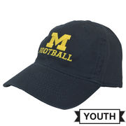 Legacy University of Michigan Football Youth Navy Slouch Hat