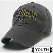 Legacy University of Michigan Youth Dark Gray Relaxed Twill Slouch Hat