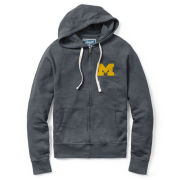 League Collegiate Outfitters University of Michigan Weathered Navy Vineyard Full Zip Hooded Sweatshirt