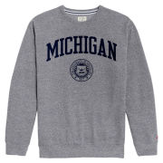League Collegiate Outfitters University of Michigan Gray Heritage Crewneck Sweatshirt
