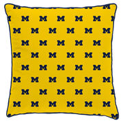 League Collegiate Outfitters University of Michigan Scattered M Square Pillow