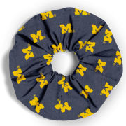 League Collegiate Outfitters University of Michigan All-Over Block ''M'' Hair Scrunchy