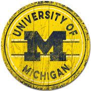 Legacy University of Michigan Circle Wall Mount Sign