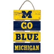 Legacy University of Michigan ''M Go Blue'' Ladder Pallet Sign