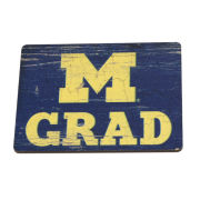 Legacy University of Michigan Block ''M'' Graduate Refrigerator Magnet
