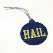 Legacy University of Michigan Flat Wood-Cut ''HAIL'' Ornament