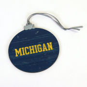 Legacy University of Michigan Flat Wood-Cut ''Michigan'' Ornament