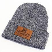 Legacy University of Michigan Women's Navy Marled Cuffed Knit Hat