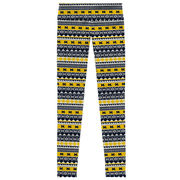 League Outfitters University of Michigan Ladies Patterned Compression Pant