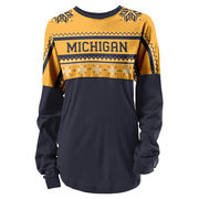 League Outfitters University of Michigan Ugly Holiday Oversized Rah Rah Tee